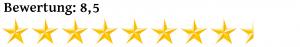 Acht Komma Fünf Sterne Bewertung