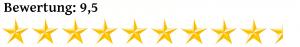 Neun Komma Fünf Sterne Bewertung