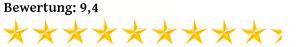 Neun Komma Vier Sterne Bewertung