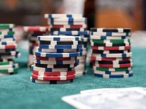 Chips von Anfänger beim Pokern