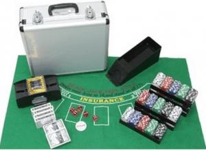 CQ Heim Pokerset Deluxe mit Chips, Karten und Mischer 600 Pokerchips