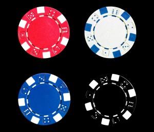 Pokerchips Einsatz