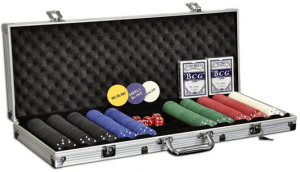 Pokerkoffer 500 Pokerchips Pokerset mit Standard Poker Chip
