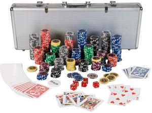 Pokerkoffer mit Chips und Karten
