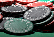 Viele Poker Chips aus Plastik