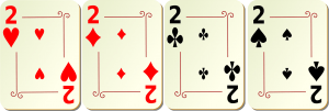 Vierling beim Pokern