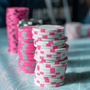 Gestapelte Pokerchips